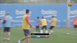 Enlace a Neymar humilla a Piqué en el entrenamiento y lo sube a insta para que lo vea todo el mundo