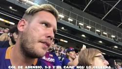 Enlace a Reacción de un youtuber del Barça en el Camp Nou al gol de Asensio