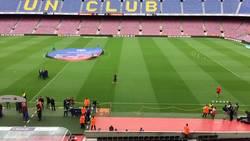 Enlace a Vídeo: Cillessen salta a calentar... y se pone a aplaudir a un Camp Nou vacío