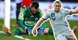Enlace a Payet encara al portero en un mano a mano, le hace una finta... ¡y lo deja lesionado de los ligamentos!