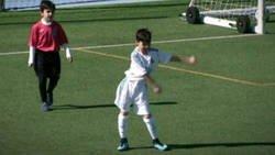 Enlace a El benjamín blanco que encandila al madridismo, sobre todo por la celebración de los goles