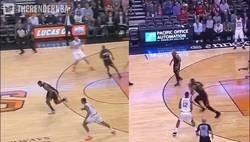 Enlace a LeBron James clavó anoche un mate que hizo hace años frente al mismo equipo y en su misma cancha