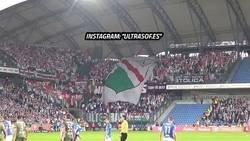 Enlace a Reacción de la hinchada del Legia Varsovia cuando le marcan un gol