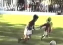 Enlace a Messi con 8 años ya volvía locas a las defensas