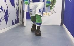 Enlace a Presentan a Super Pepino, la nueva mascota del Leganés