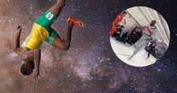 Enlace a Lo más épico que verás hoy. Usain Bolt corriendo en una cabina sin gravedad