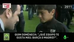 Enlace a Brahim le reconoció a Quim Doménech que ERA DEL BARÇA y su ÍDOLO ERA Messi cuando tenía 12 años
