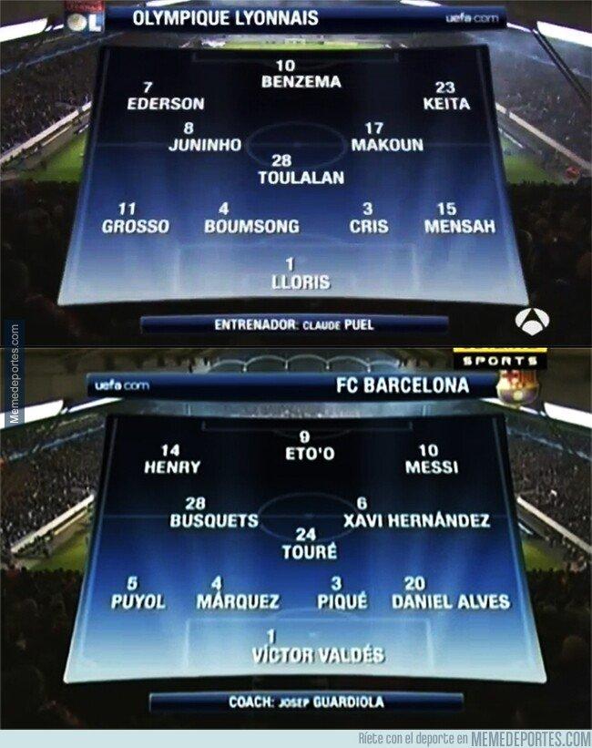 1064924 - Ojo a las alineaciones titulares del último Lyon-Barça. Una locura