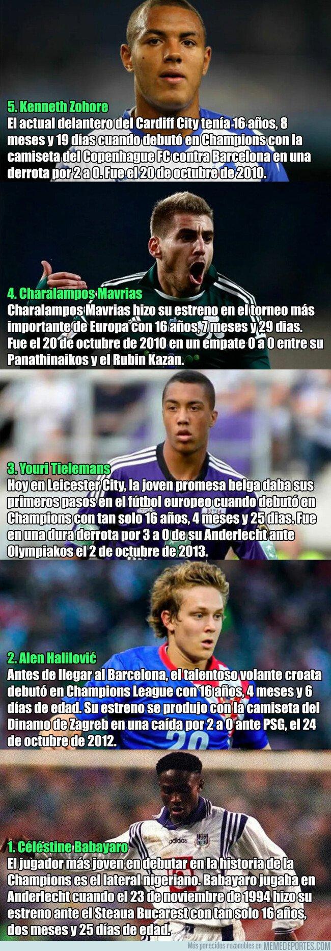 1064974 - Los 5 jugadores más jóvenes en debutar en la Champions League