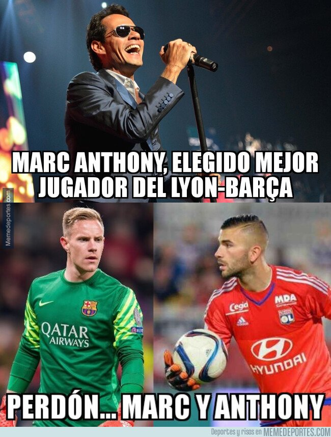 1065037 - Marc y Anthony fueron los mejores del Lyon-Barça