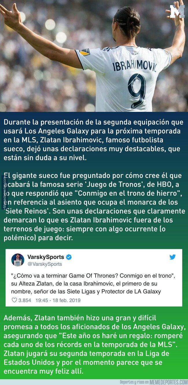 1065074 - Zlatan Ibrahimovic revela cómo terminará 'Juego de Tronos' y se queda con todo el personal