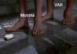 Enlace a Morata y el VAR