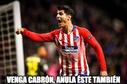 Enlace a Morata en el gol de Giménez