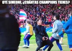 Enlace a No sólo Cristiano presumió de cuántas Champions tiene, el Cholo también: