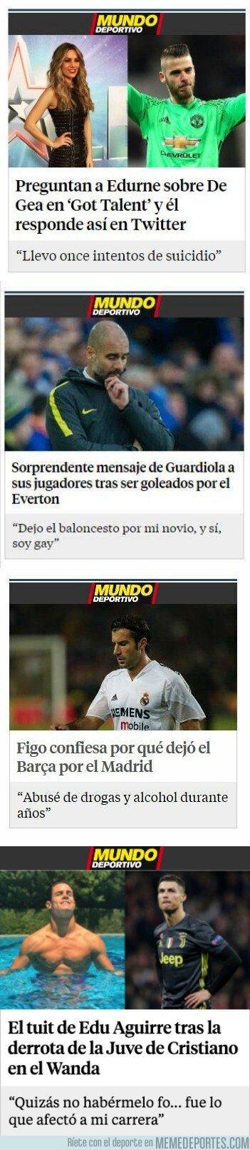1065227 - Al Mundo Deportivo se le da muy bien maquetar las noticias de 2 en 2, vía @barq_in