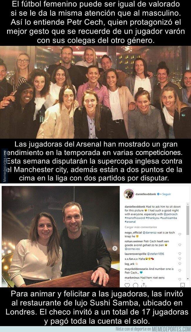 1065310 - El gran gesto que tuvo Petr Cech con las jugadoras del equipo femenino del Arsenal