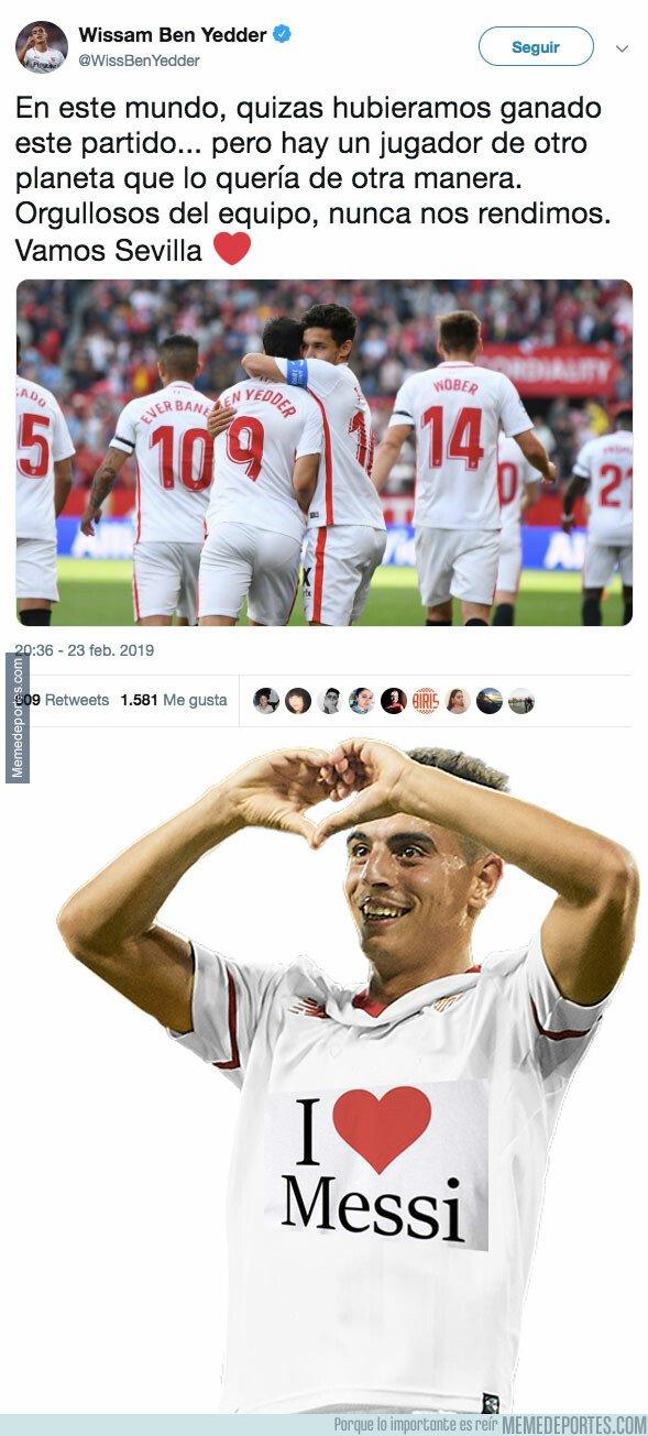 1065444 - El piropo de Ben Yedder a Messi tras jugar contra él esta tarde
