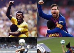 Enlace a Messi pareciéndose a los mejores de la historia
