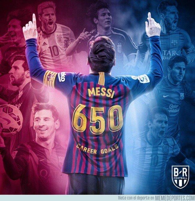 1065474 - Messi alcanza los 650 goles en su carrera, por @brfootball