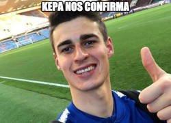 Enlace a Kepa confirma que se ha puesto como portero para el partido de hoy