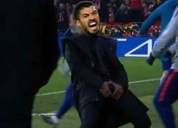 Enlace a Suárez en el Bernabéu
