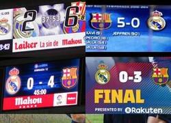 Enlace a Los últimos marcadores de el Barcelona contra el Real Madrid