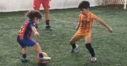 Enlace a El prodigio sobreentrenado de 5 años 'ficha' por el Barcelona y ya regatea a lo Messi