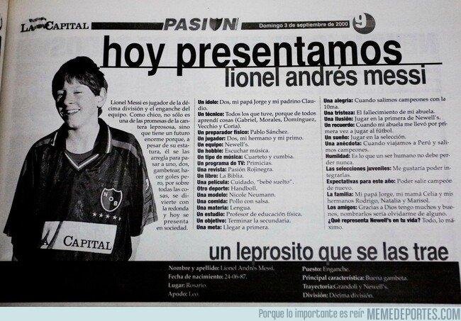 1066313 - Descubierta una vieja entrevista a Messi cuando era niño. Ojo: Del año 2000
