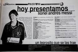 Enlace a Descubierta una vieja entrevista a Messi cuando era niño. Ojo: Del año 2000