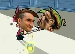 Enlace a Valverde sacando hasta la última gota de Rakitic