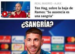 Enlace a Ramos quiere algo para beber mientras ve el partido desde casa