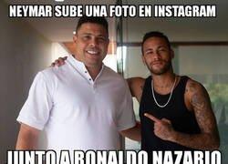 Enlace a Neymar posó junto al presidente del Valladolid