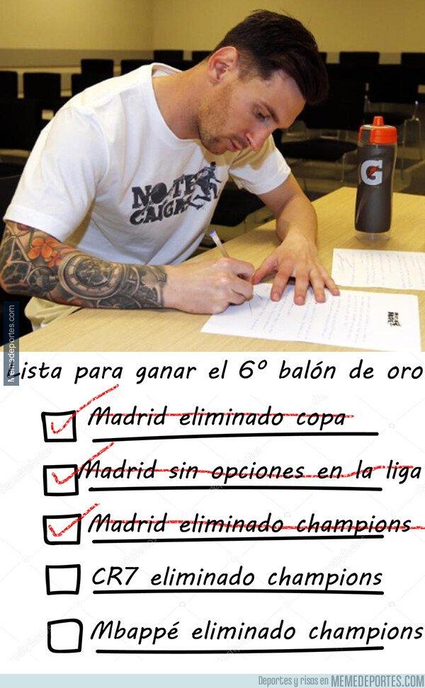 1067088 - La lista de Messi para el camino al balón de oro