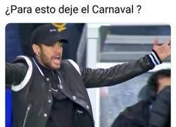 Enlace a Neymar se arrepiente de dejar el carnaval para esto