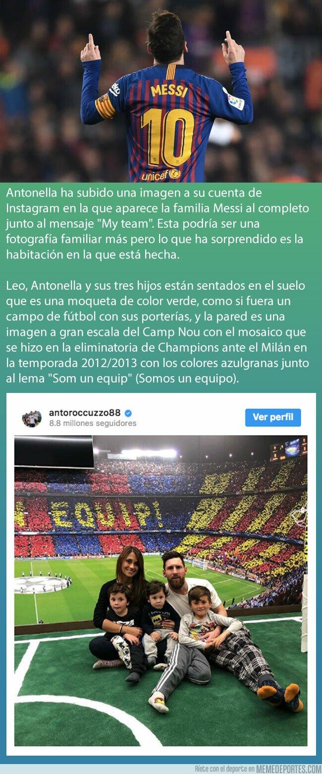 1067273 - Así es la impresionante habitación de Leo Messi que recrea el Camp Nou