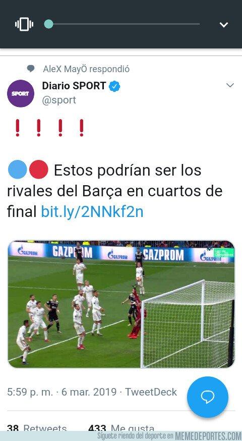 1067290 - Y luego dicen que en Madrid hay prepotencia. OJO con el gafe de Sport