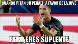 Enlace a Cristiano se perdió un penalti por entrar en las rotaciones