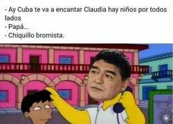 Enlace a El paso de Maradona por Cuba