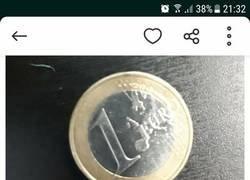 Enlace a Venden en wallapop una moneda de 1€ tocada por Messi