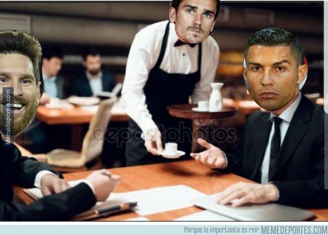 1067965 - Griezmann en la misma mesa que Cristiano y Messi