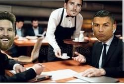 Enlace a Griezmann en la misma mesa que Cristiano y Messi