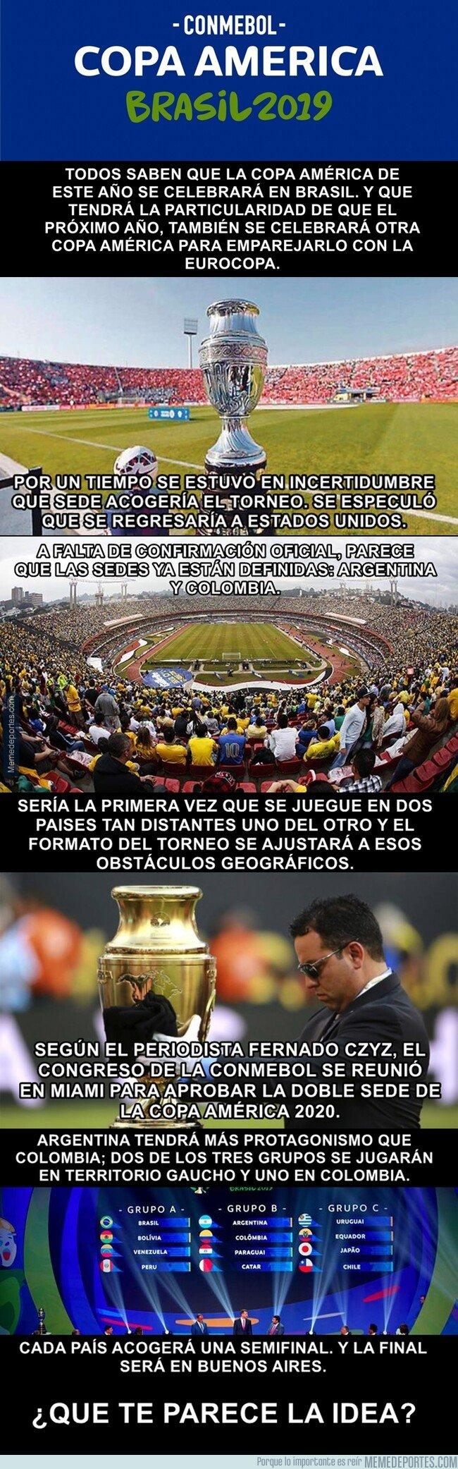 1068133 - El osado cambio que tendrá la Copa América de aquí al año siguiente