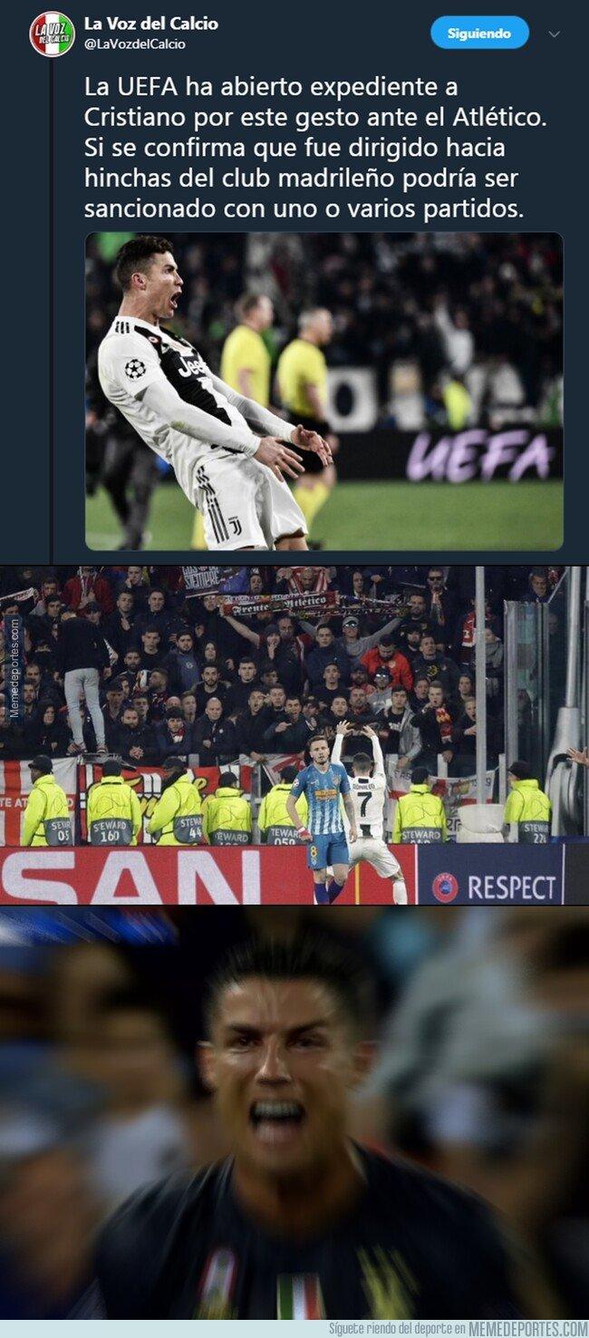 1068296 - OJO que la UEFA expedienta a Cristiano por pasarse de gracioso y se podría perder los cuartos de final