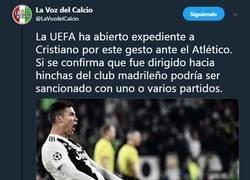 Enlace a OJO que la UEFA expedienta a Cristiano por pasarse de gracioso y se podría perder los cuartos de final
