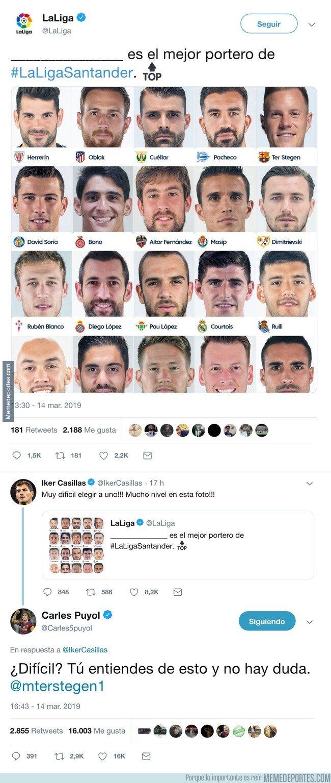 1068361 - ¿Quién es el mejor portero de LaLiga? Iker Casillas duda y Carles Puyol se lo aclara