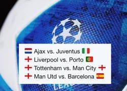 Enlace a ¡Así quedan los cuartos de final de la Champions League!