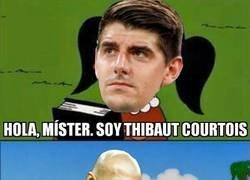 Enlace a Así se conocieron Courtois y Zidane