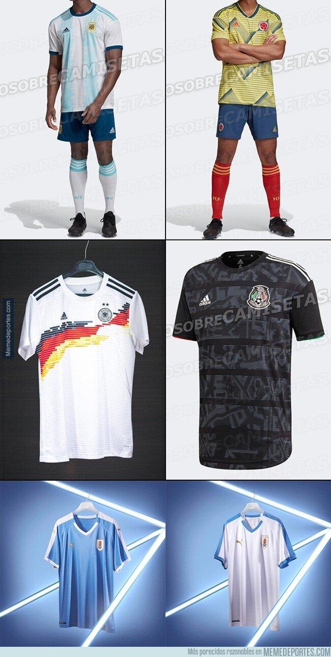 1068610 - Ya huele a Fecha FIFA. Estas son algunas camisetas filtradas que utilizarán las selecciones