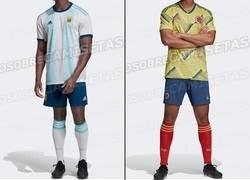 Enlace a Ya huele a Fecha FIFA. Estas son algunas camisetas filtradas que utilizarán las selecciones