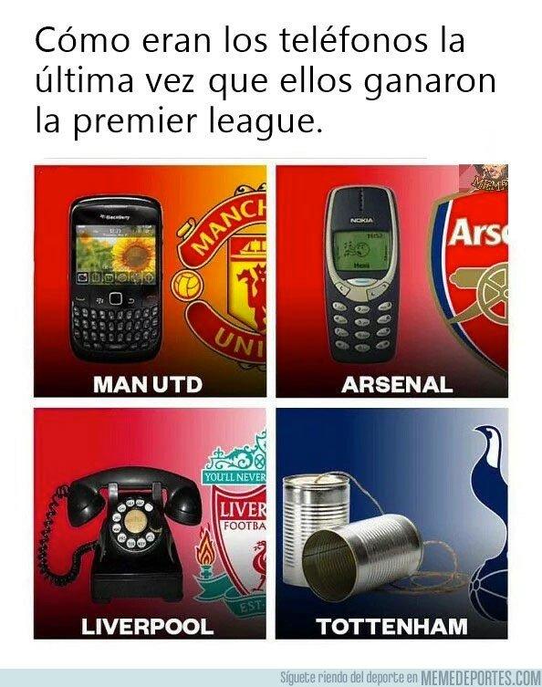 1068939 - La evolución de los campeones de la Premier a través de los teléfonos
